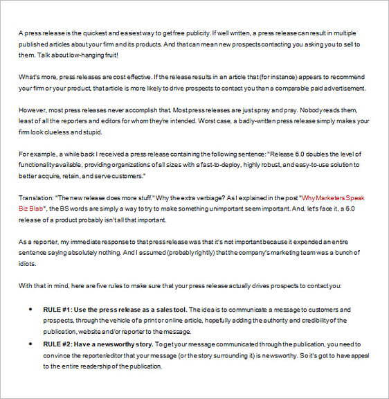 How To Write a Press Release with Examples 1