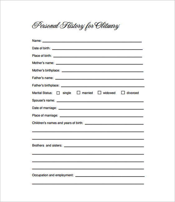 Free Obituary Template For Mother from moussyusa.com