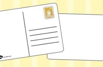 Postcard Writing templates Free