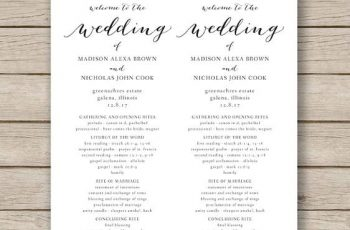 Print Ready Wedding Program templatess