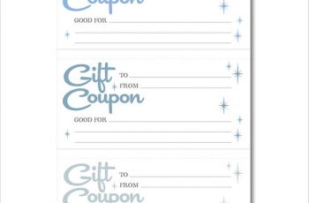 Printable Homemade Gift Coupon templates