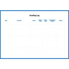 Reading Log Slider