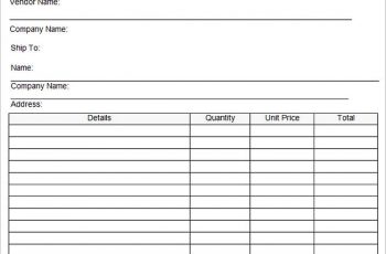 Sample Purchase Order Format