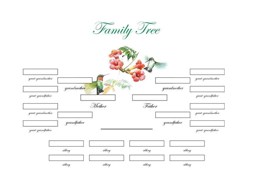 family tree templates 22