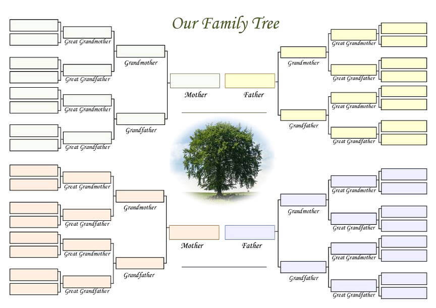 25  family tree templates free download