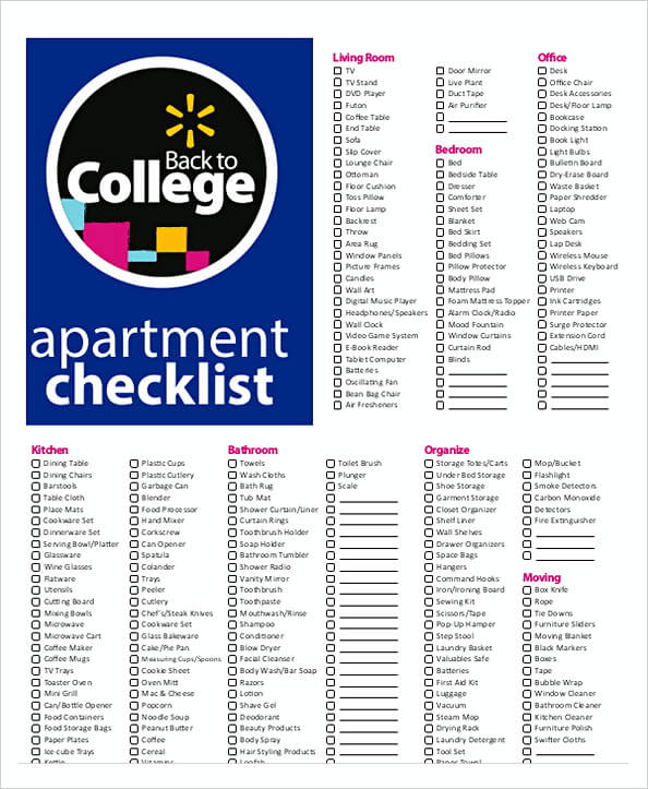 40+ First Apartment Checklist – Never Miss Out Things For ...