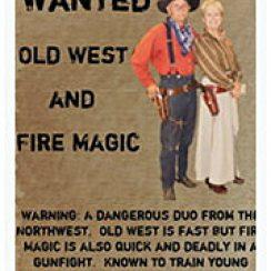 Wanted Western Poster Gunslinger Sample Template