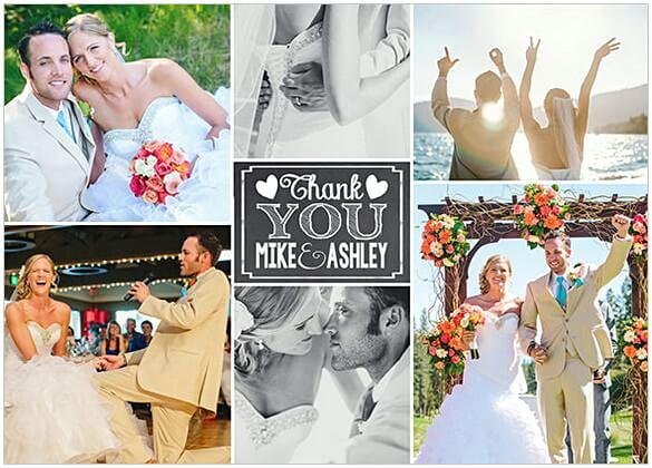 Wedding Thank You Card Photo Thank You Card