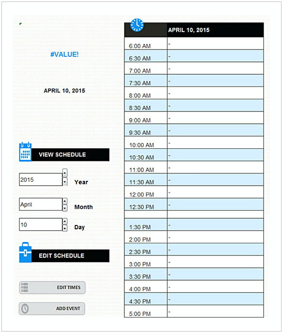 Your Daily Schedule PDF Format Free Download Sample