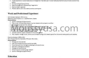 Administrative Assistant Resume Examples and Descriptions