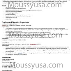 Nursing Resume Examples and Job Description