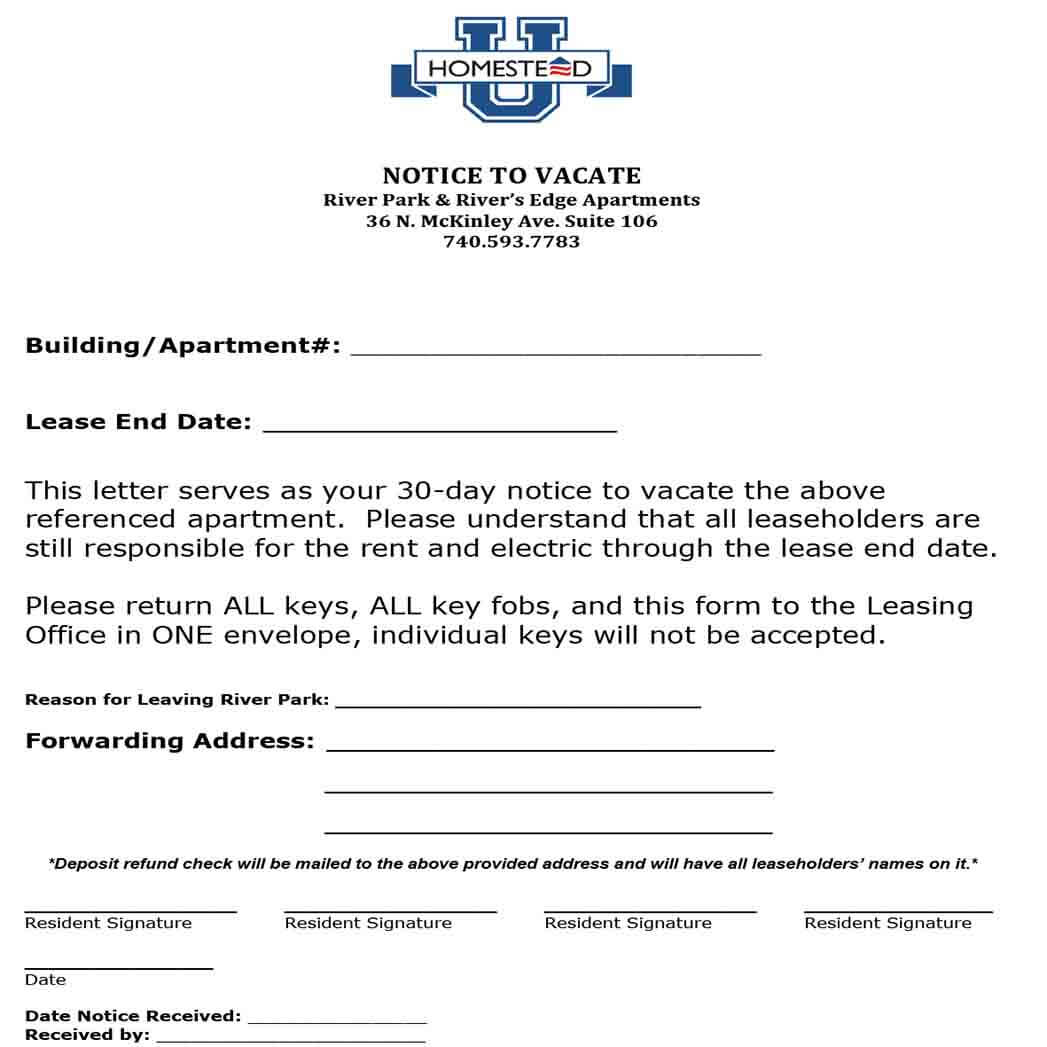 Basic Notice Letter