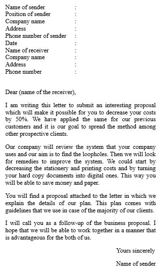Business Proposal Letter Introduction
