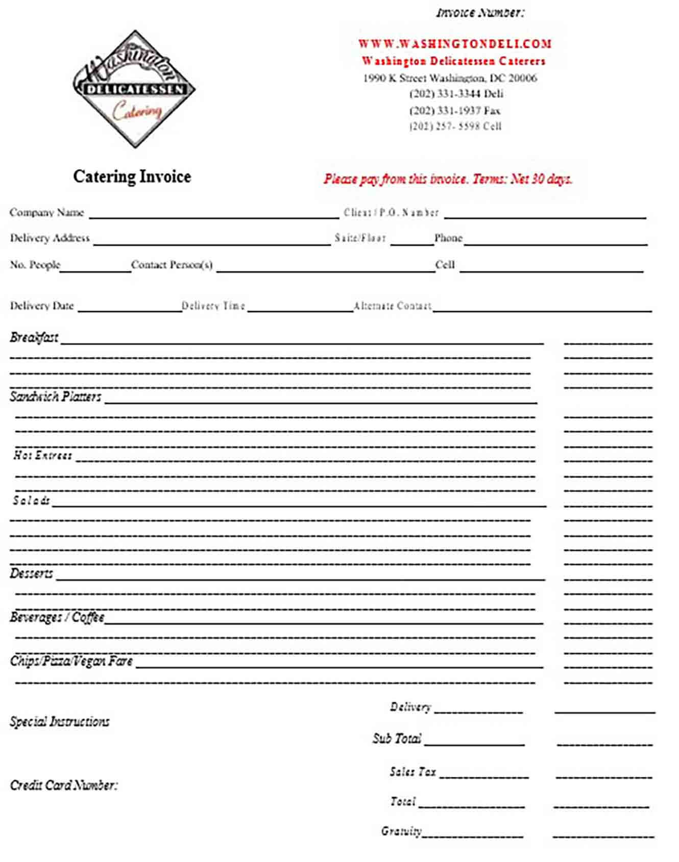 Catering Proposal Cover Letter
