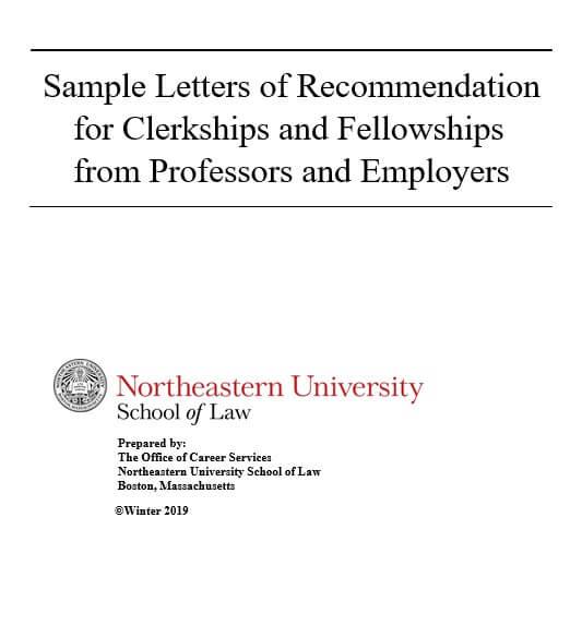 Clerkship Letter of Recommendation