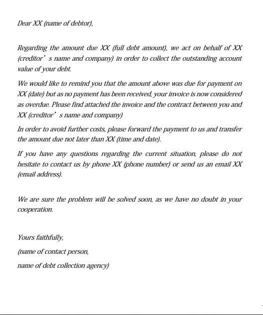 Collection Agency Demand Letter