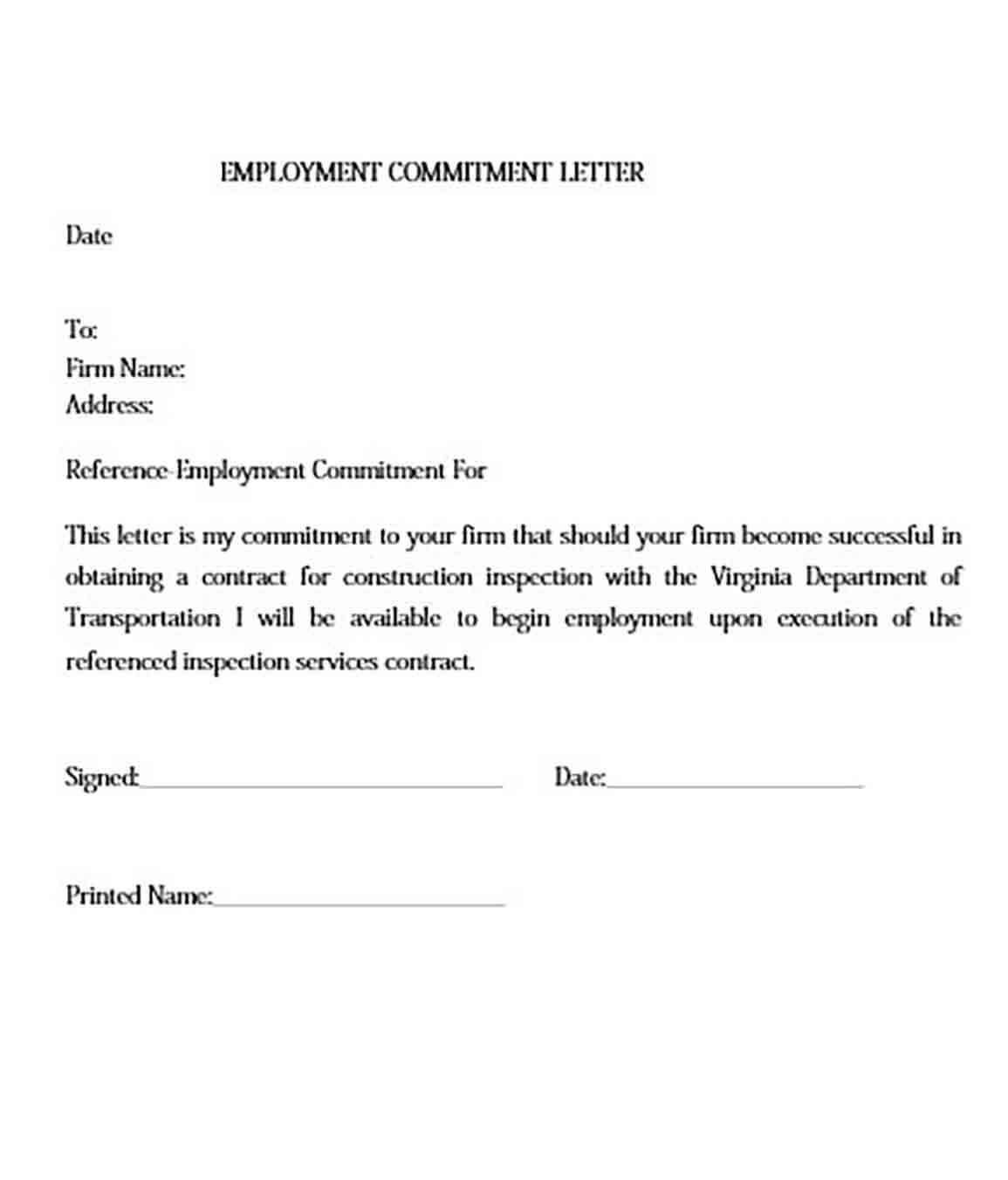 Commitment Letter