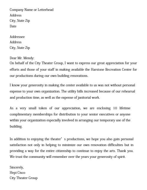 Community Volunteer Appreciation Letter
