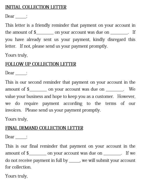 Customer Debt Collection Letter
