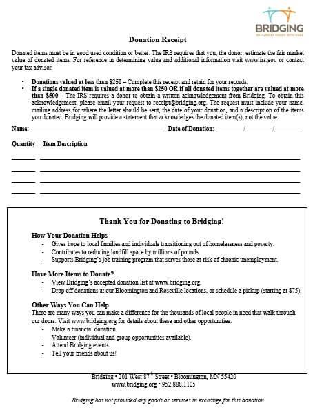 Donation Receipt Request Letter