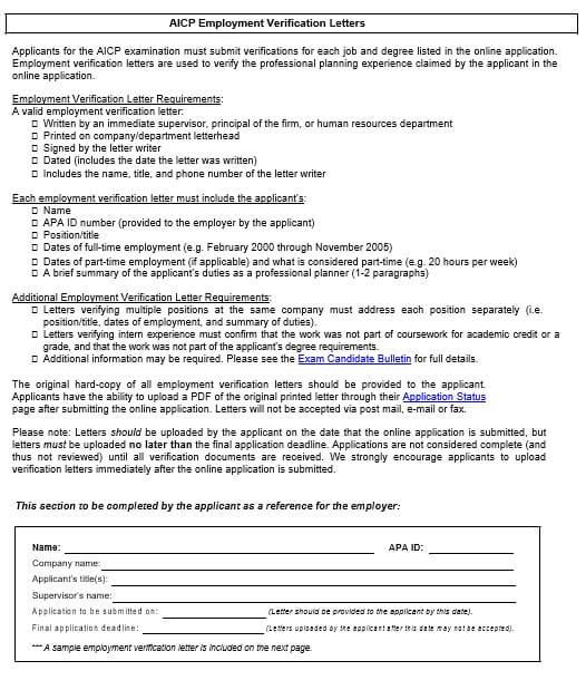 Employment Verification Letter to Print