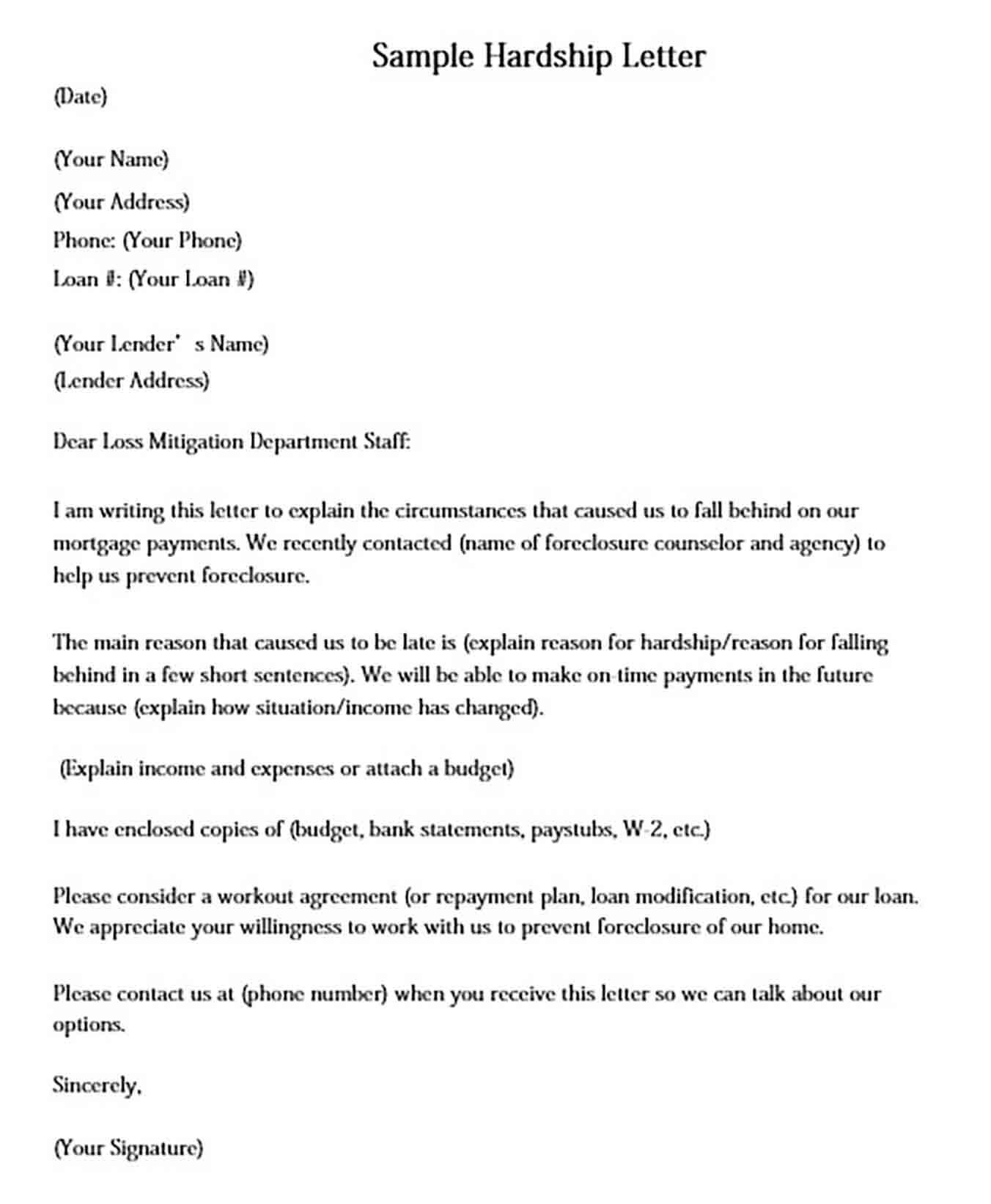 Loss Mitigation Hardship Letter from moussyusa.com