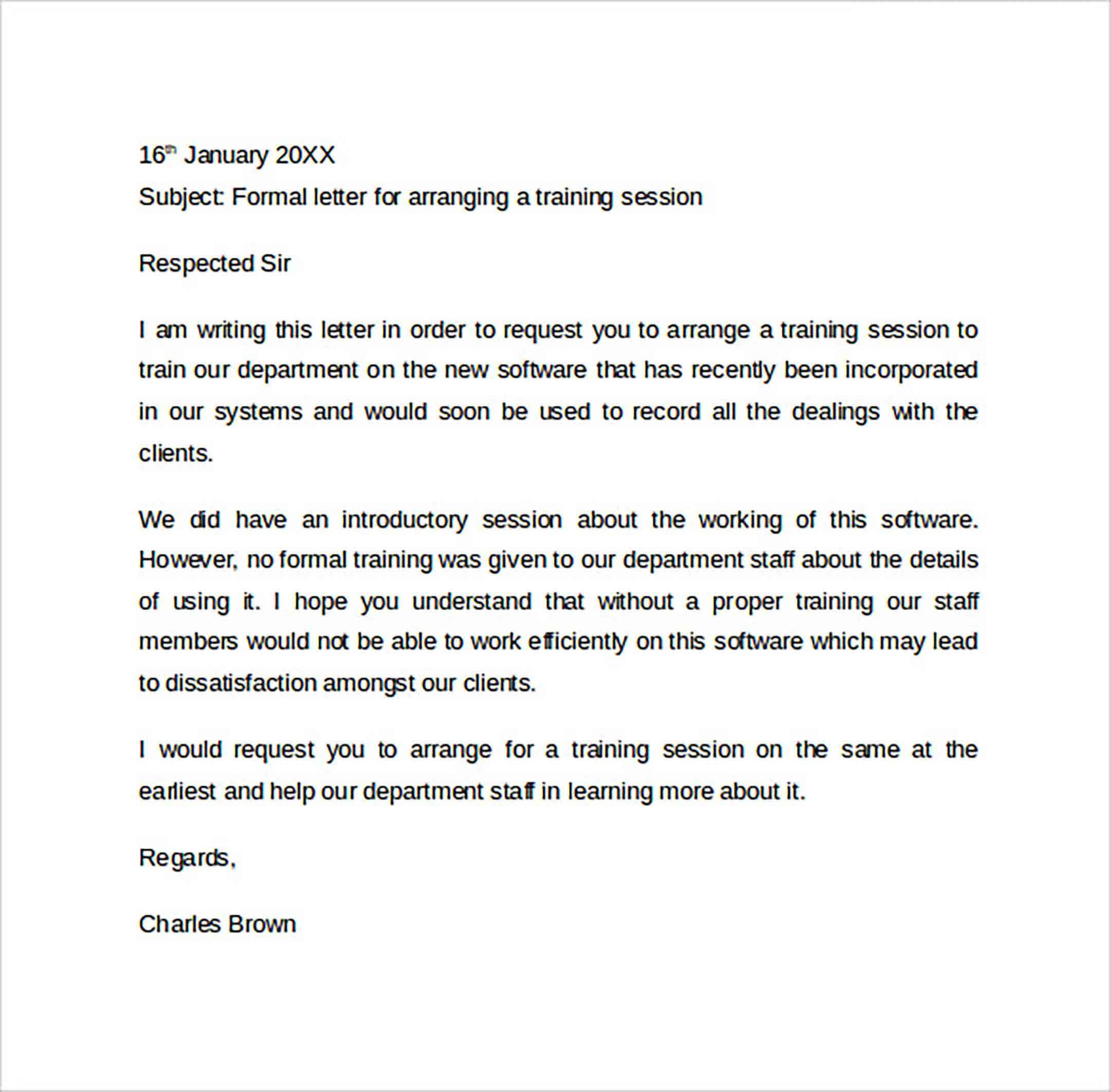 Formal Letter Format to Print