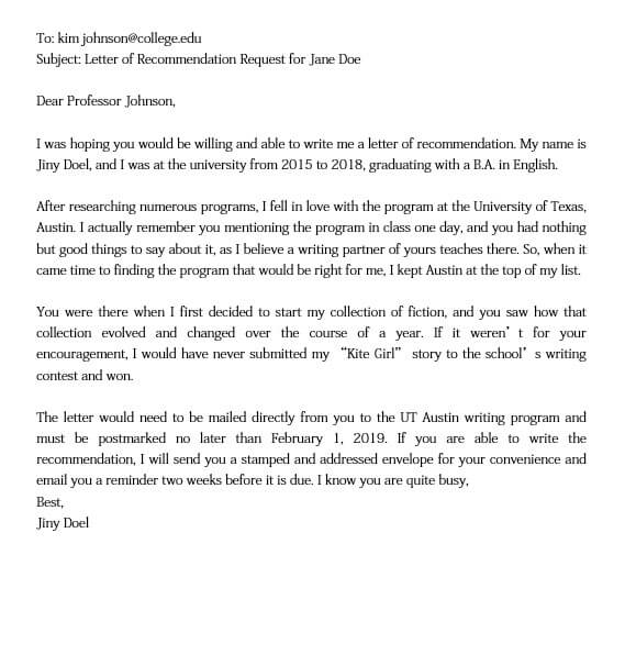 How To Ask for A Letter of Recommendation for Graduate School