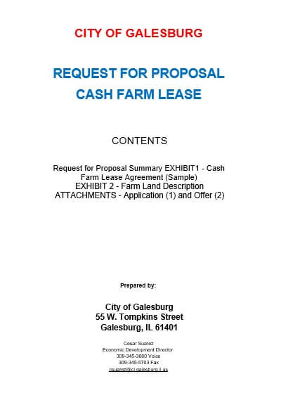 Lease Proposal Cover Letter