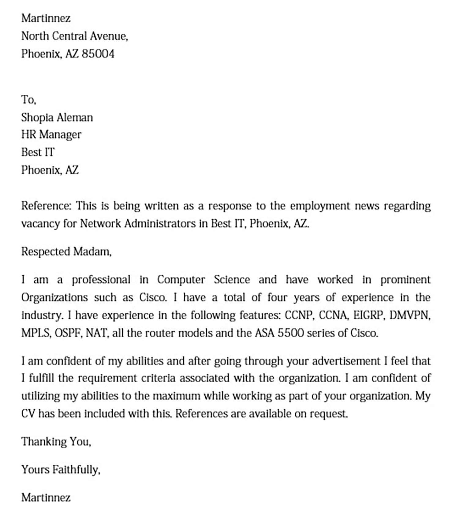 Letter of Intent for Employment templates