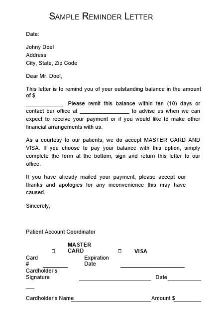 Payment Plan Collection Letter