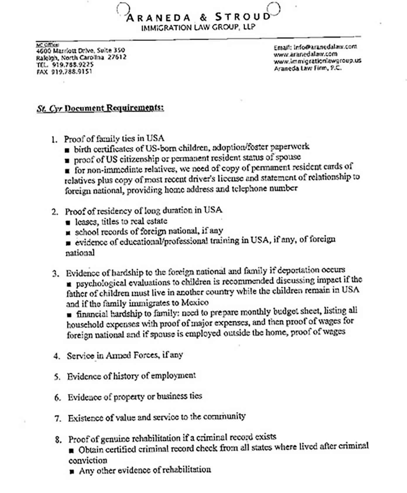 Personal Character Reference Letter for Immigration