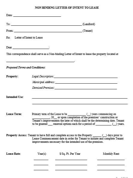 Property Lease Proposal Letter