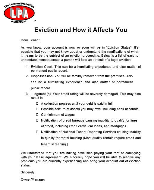 Rent Eviction Notice