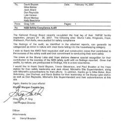 Safety Award Appreciation Letter