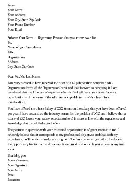 salary negotiation letter for pdf word  mous syusa