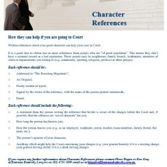 Sample Character Reference Letter for Court