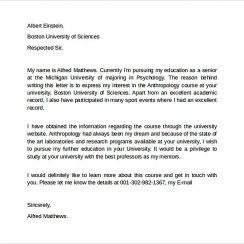 Sample Letter Of Intent Graduate School