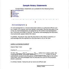 Sample Notarized Letter