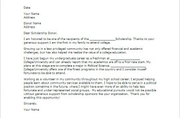 Sample Scholarship Thank You Letters Download