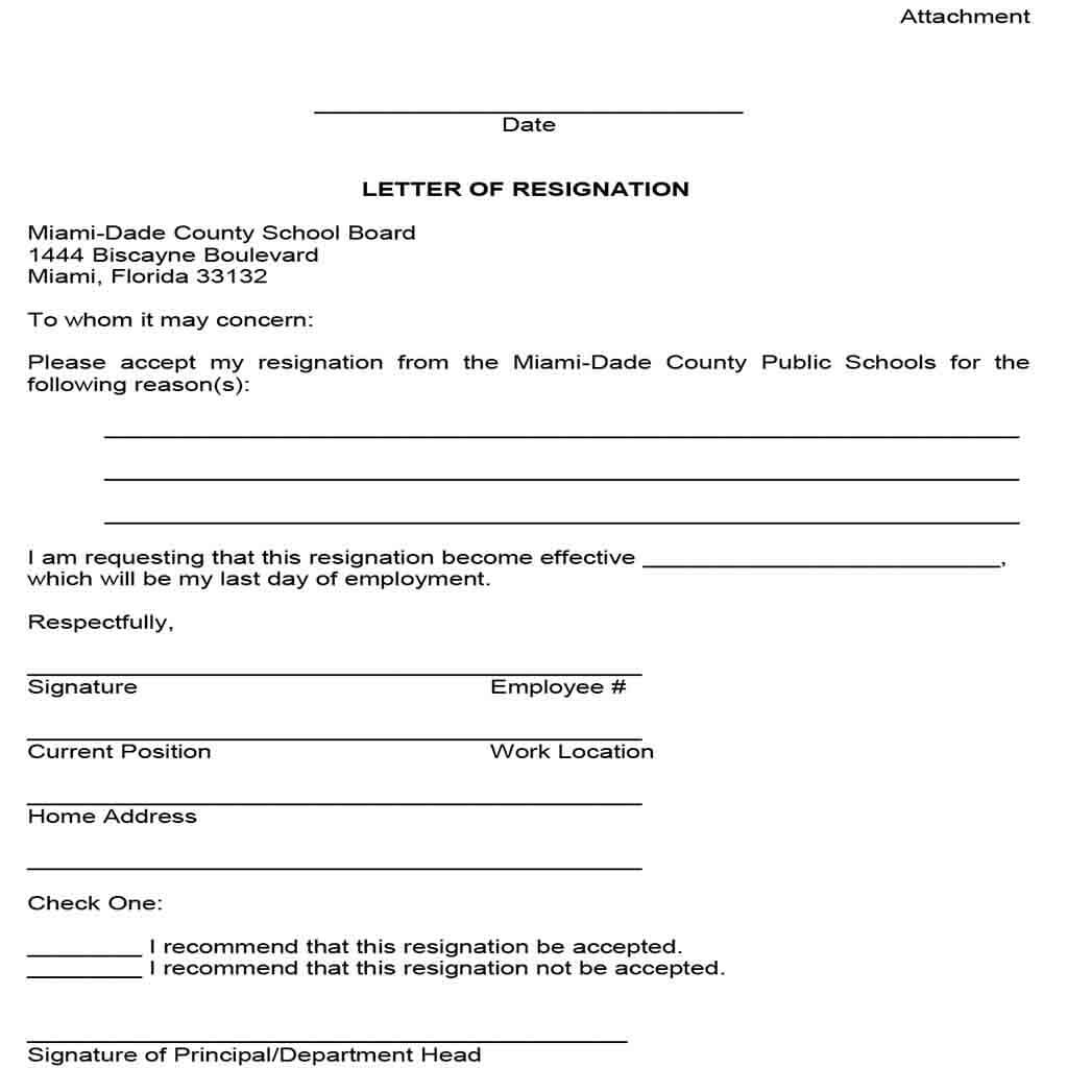 School Board Resignation Letter in