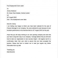 Simple Fax Cover Letter