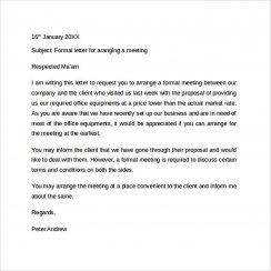 Simple Formal Letter Format