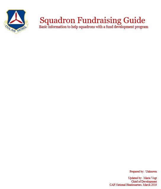 Squadron Fundraising Guide AFBBC