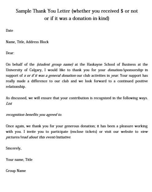 Scholarship Donation Thank You Letter from moussyusa.com
