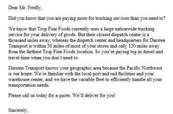 Transport Business Proposal Letter