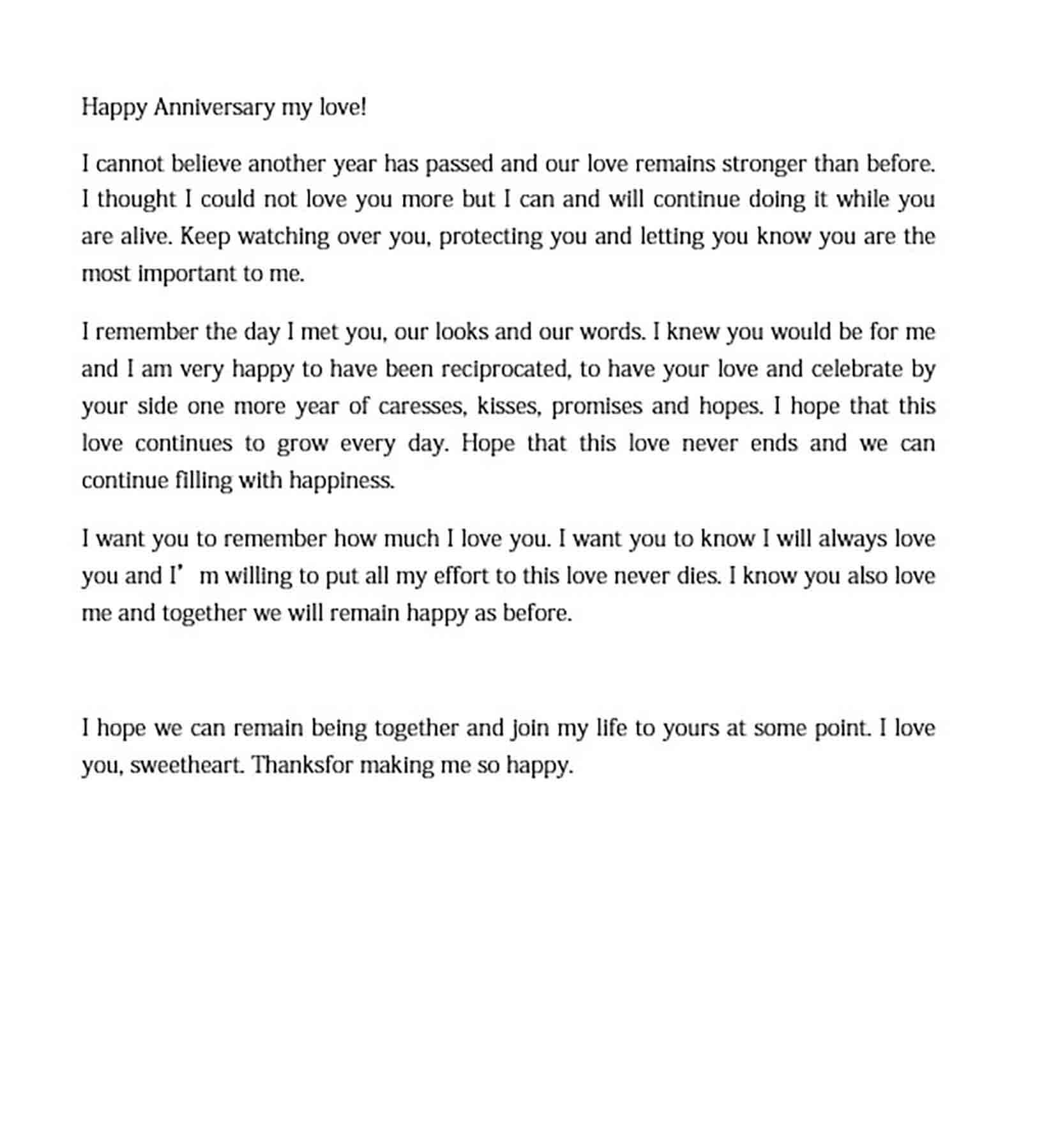 anniversary love letter to boyfriend templates