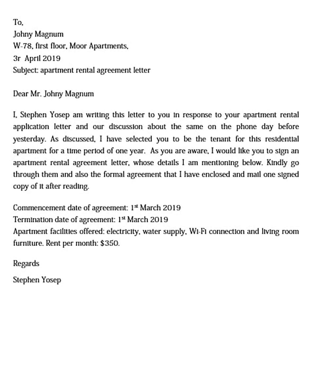 basic apartment rental agreement