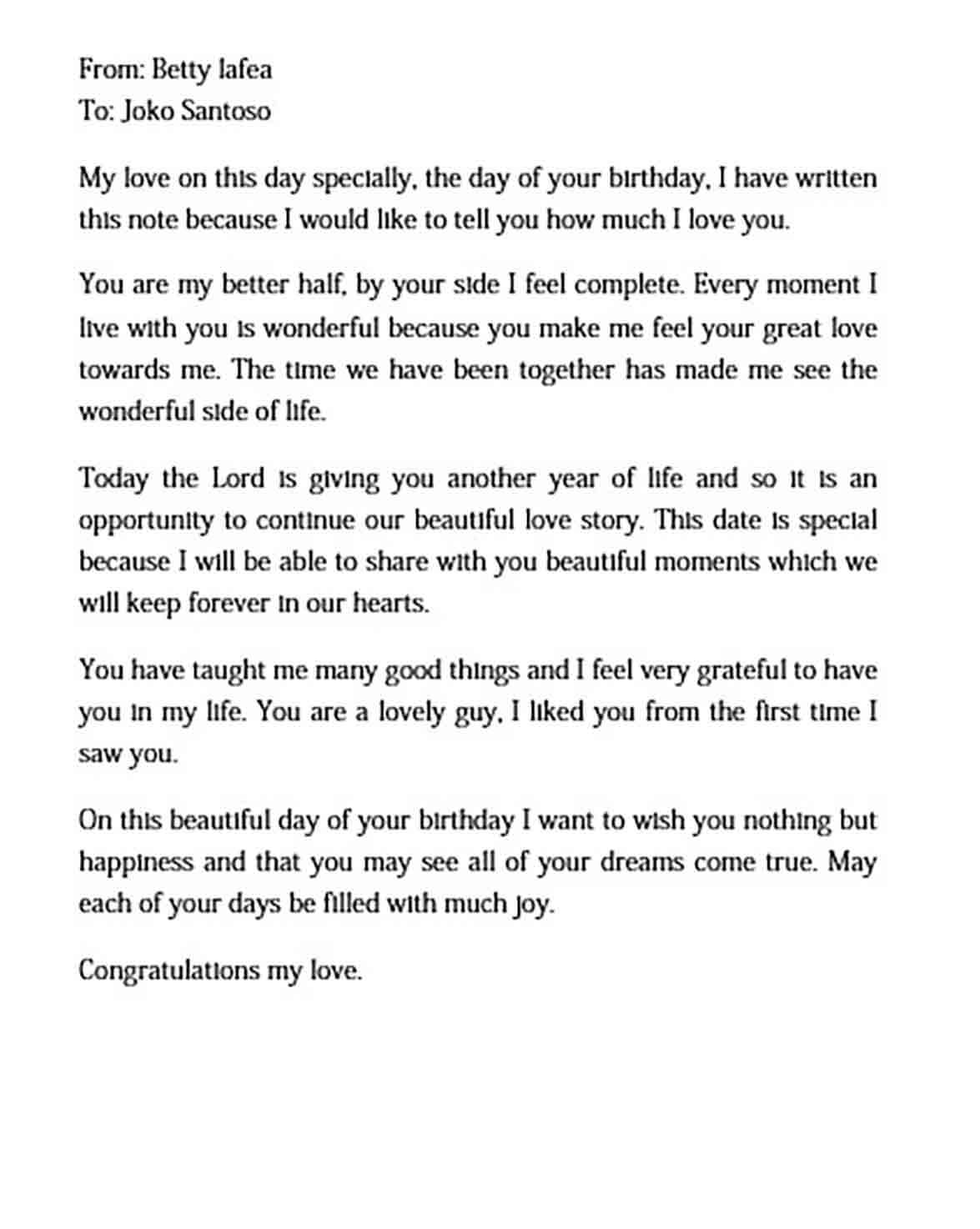 birthday love letter to boyfriend templates