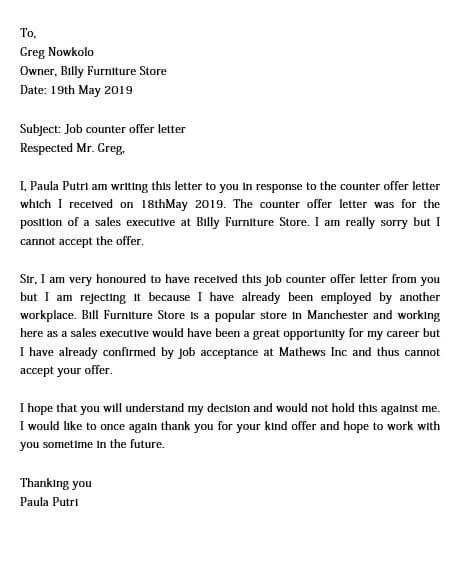 counter offer letter example